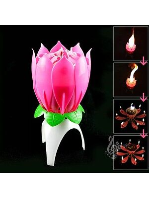 Singing Happy Birthday Candle Musical Magical Blossom Candle, USA Seller!! - Singing Happy Birthday