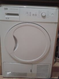 Beko DCU6130W condenser tumble dryer ( for spares or repairs)