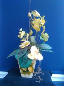 Two Silk Flower Arrangements