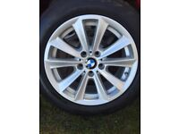 4x bmw alloy wheels (style 236) with tyres