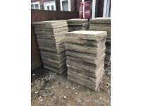 119 garden slabs forsale we paid 250 for them I'm wanting 150 as moving house