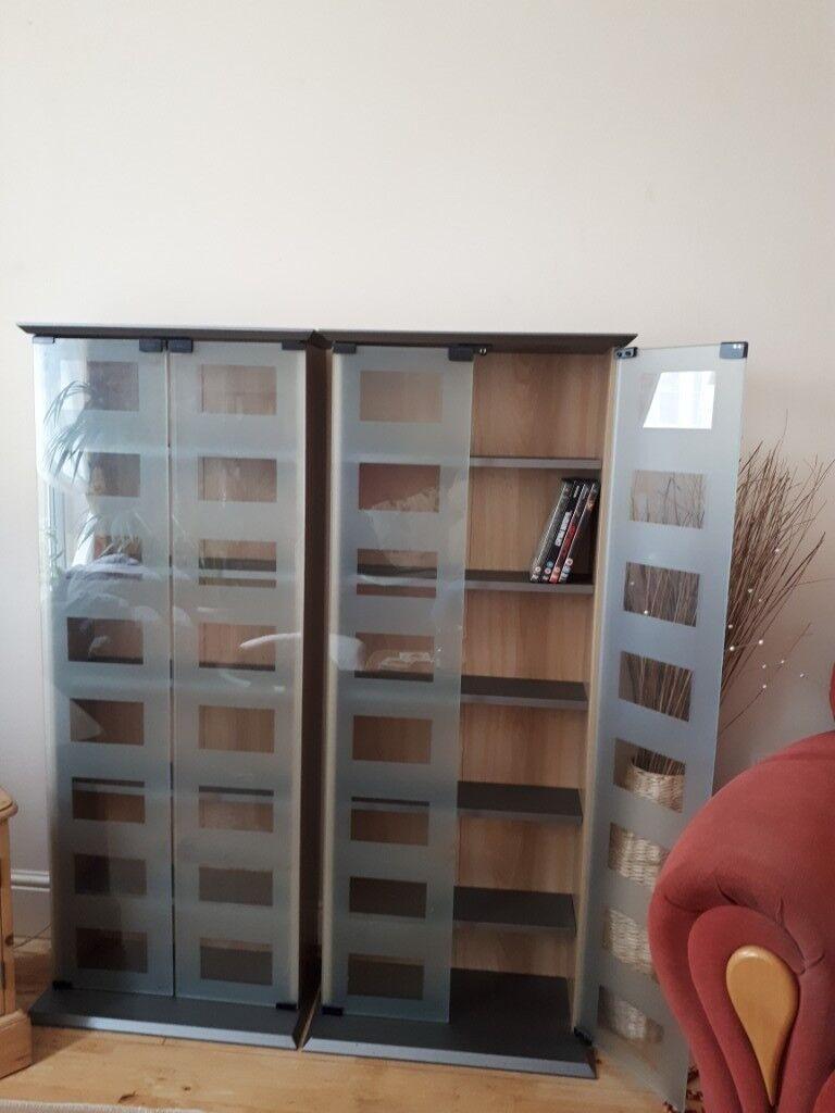 3 X Glass Doors Dvd Units In Taunton Somerset Gumtree