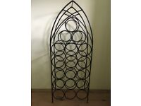 Black 18 Bottle Iron Wine Rack For Sale. Very Sturdy and Attractive.