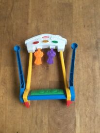 Playskool kickstart baby gym with lights and sounds . Folds flat for storage