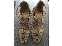 M&S gladiator heels brand new with tags