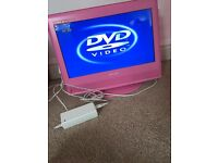 Pink Tv with DVD player attached & freeview