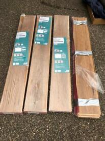3 1/2 packs of Rockland Hickory laminate flooring