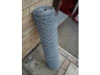 Galvanised chicken Wire Netting Roll 50mm x 900mm WAS Travis Perkins £106.49 Rabbit Fence
