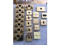Job lot brass sockets and switches
