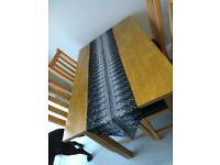 Black and silver table runner