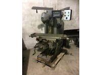 Bridgeport 1S Universal Milling Machine with Tooling