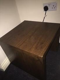 Small dark coffee table/bed side table