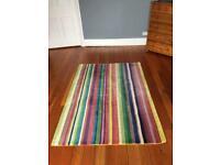 Stripy wool rug