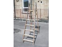 TALL WOODEN LADDER, PROP OR DISPLAY ONLY