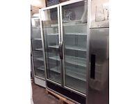 Drinks Display Fridge Double Door Brand New EN0043