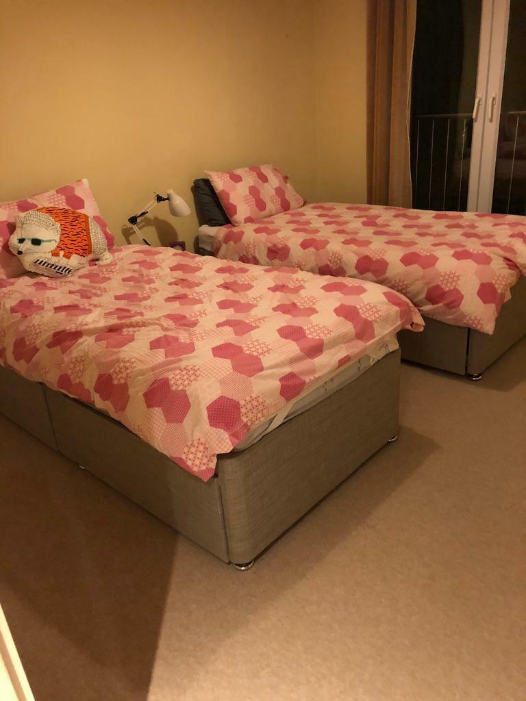 Picture of: Two Single Divan Beds In Brampton Cambridgeshire Gumtree