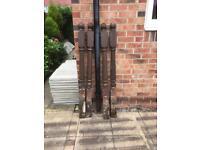 Heavy duty wooden garden posts x4