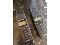 2 x retro ericson phones 1990's