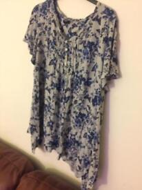 Size 20 printed top