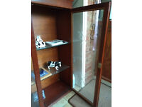 GLASS FRONTED WOOD CABINET for sale