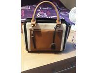 Gorgeous black and tan handbag