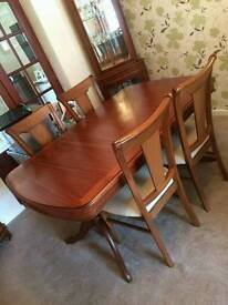 G Plan DiningTable and 4 chairs