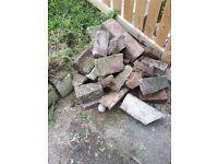 Bricks and stones free to uplift