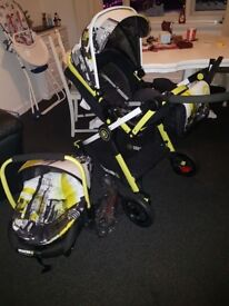 Travel system and car seat first £100 takes it as need it gone