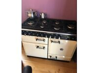 Rangemaster 110 6 ring gas cooker 2 ovens and grill also fridge freezer to match