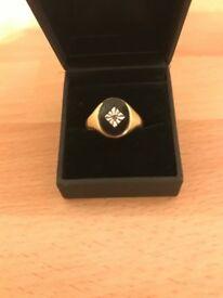 9ct gold mans ring