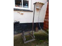 Wellington / Boot mud scraper , steel.