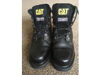 CAT Black Thinsulate Safety Boots Size 7