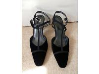 Women's Black Velvet Evening Shoes