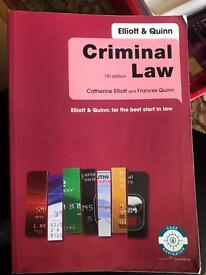Criminal law (7th edition). Elliot &a Quinn: for the best start in law.