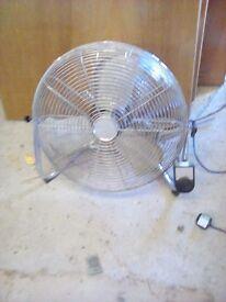 Large stainless steel fan