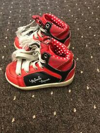 Mine mouse girls trainers size 5