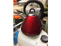 Red Russell Hobbs Kettle with Base