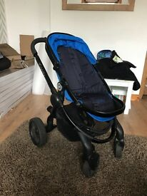 Icandy peach 3 pram/ buggy with carrycot & footmuff