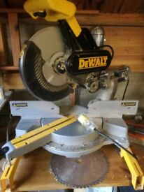 Dewalt DW 708 110v table saw, double bevel