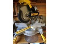 Dewalt DW 708 110v table saw, double bevel