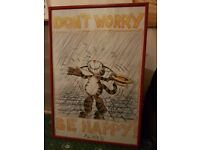 Dont Worry Be Happy framed picture