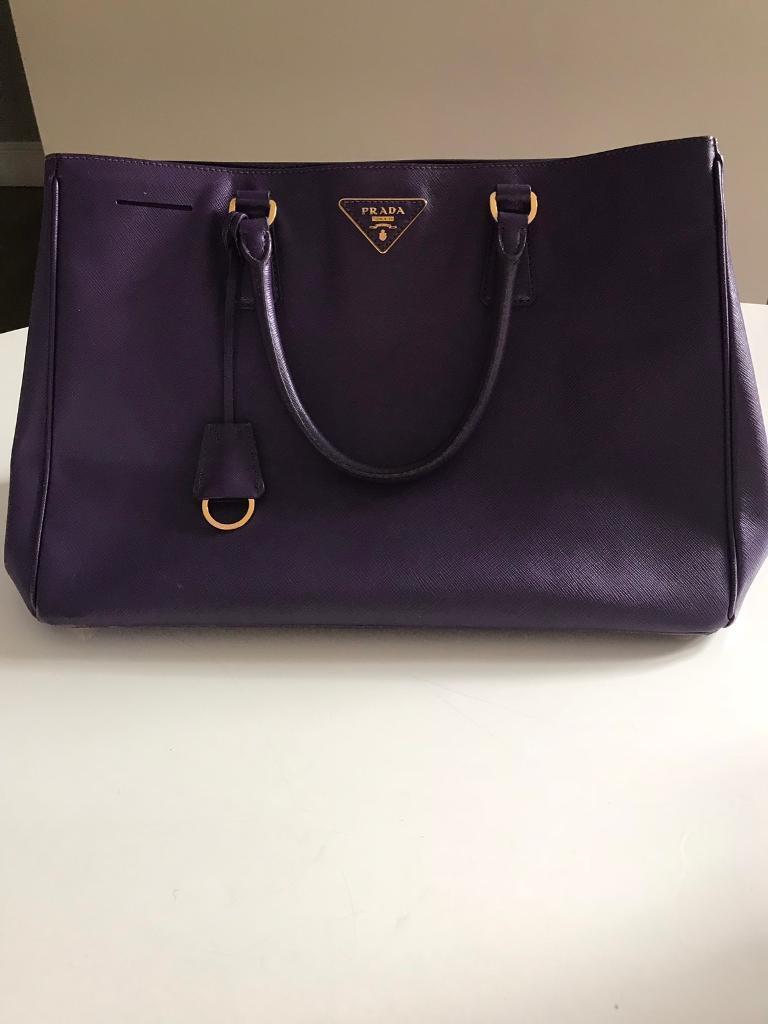 69837612721585 Authentic Prada Saffiano Lux Medium (Purple) handbag | in Reigate ...