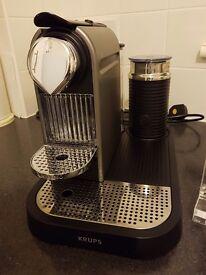 Nesspresso machine with milk frother