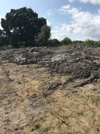 Recently excavated silt
