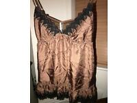 Topshop dressy top size 8