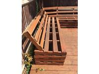 Wooden seating for decking