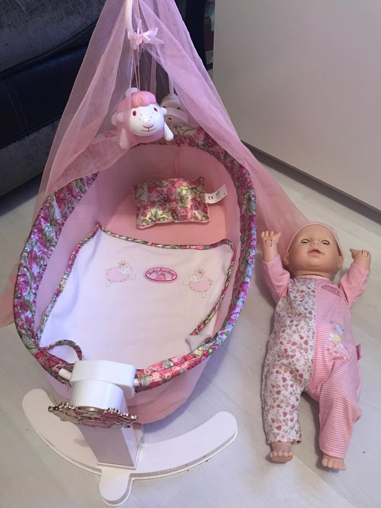 Baby Annabell rocking cradle and learn to walk doll