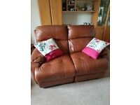 2x2 seater sofa recliner leather 13months old due to moving .150 each