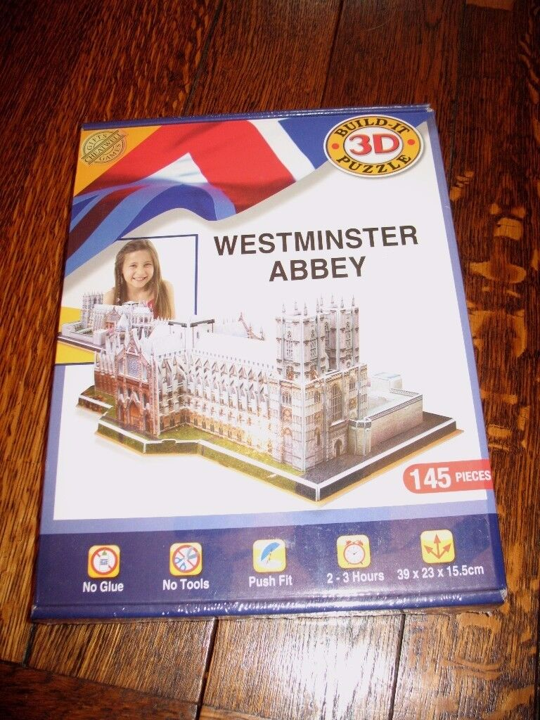 3D Jigsaw Puzzle 'Westminster Abbey' - Unopened