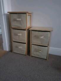 ***NOW SOLD***Storage drawers units bathroom wooden canvas